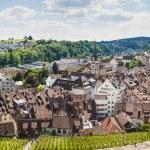 Panoramic view of Swiss town Schaffhausen. River Rhine. — Stock Photo #49795011