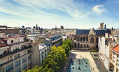 Panoramic view of Paris from the roof of The Centre Pompidou Museum building. France. — Stock Photo