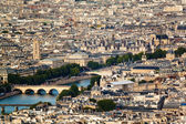Scenic view from the top of the Eiffel Tower. Paris, France. — Stock Photo