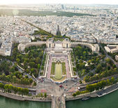 Aerial view of Paris from the Eiffel Tower. France. — Stock Photo