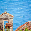 Close up view of the church rooftop in the Eze Sur Mer. Cote de — Stock Photo #49989833