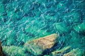 Rocky coast with clean blue see-through water. Cinque Terre Ital — Stock Photo