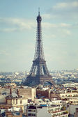 View on the Eiffel Tower from Triumphal Arch. France, Paris.  — Stock Photo
