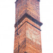 Old brick industrial chimney isolated on white — Stock Photo #51171587