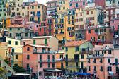 View on buildings in Manarola. Manarola is a small town in the province of La Spezia, Liguria, northern Italy. Cinque Terre. — Stock Photo