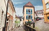 Panoramic view on Baden Baden street, Germany — Stock Photo