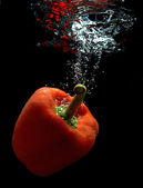 Paprika in water 3 — Stock Photo
