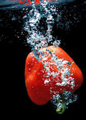 Paprika in water 2 — Stock Photo