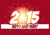 Happy new year card 2015 — Vetorial Stock