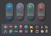 Panel social media buttons figures — Wektor stockowy