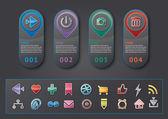 Panel social media buttons figures — 图库矢量图片
