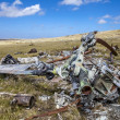 Helicoptere Crashed in Falkland Islands — Stock Photo