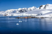 Antarctica research Chileen base station — Stockfoto