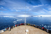 Cruise Ship in Antarctica — Stock Photo