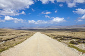 Panoramic Gravel road on East Falkland — Stok fotoğraf