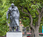 London Churchill Statue — Stock Photo