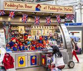 Paddington Bear Stand at Paddington Station London — Stock Photo