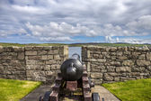 Fort Charlotte cannon, Lerwick, Scotland — Stock Photo