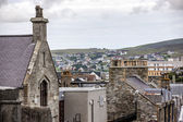 Old and new Lerwick, Shetland,Scotland — Stock Photo