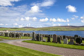 Shetland Landscape with cemetery2 — Stock Photo