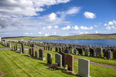 Shetland Landscape with cemetery3 — Stock Photo