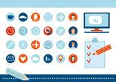 SEO website poster — Stock Vector
