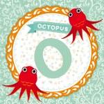 Постер, плакат: O is octopus