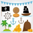 Marine Pirate set — Stock Vector #51247009