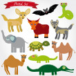 Set of funny cartoon animals — Stock Vector #51247231