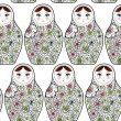 Russian Doll pattern — Stok Vektör