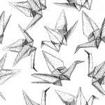 ������, ������: Origami paper cranes set