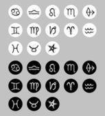 Astrologische tekens — Stockvector