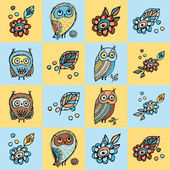 Owl background — Stock Vector