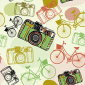 Camera decorative background — Vetor de Stock