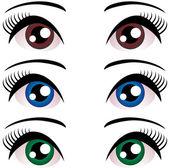Beautiful female eyes — Stock Vector