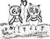 Owl background — Stock Vector
