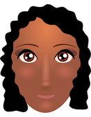 Afro american girl face — Stock Vector