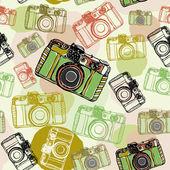 Retro camera background — Stock Vector