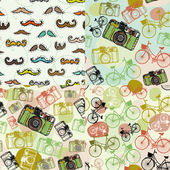 Abstract  Hipster background — Stock Vector