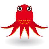 Cartoon squid illustration — Stock Vector