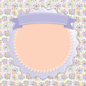 Postcard Lilac snowflakes — Stock Vector