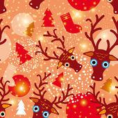 Abstract deer pattern — Stock Vector
