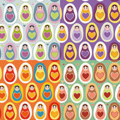 Russian dolls matryoshka — Stockvector