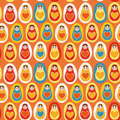Russian matryoshka pattern — Stock Vector