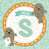 S is seal — Stock Vector