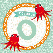 O is octopus — Stock Vector