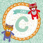 C is cat. — Stock Vector