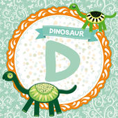D is dinosaur. — Stock Vector