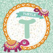 T is turtle. — Stock Vector