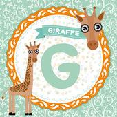 G is giraffe. — Stock Vector